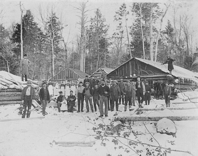 1915 Bear Brook Logging Camp