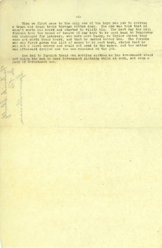 1919 Frederick Shulz statement to Tacoma Central Labor Council pg 2 of 2