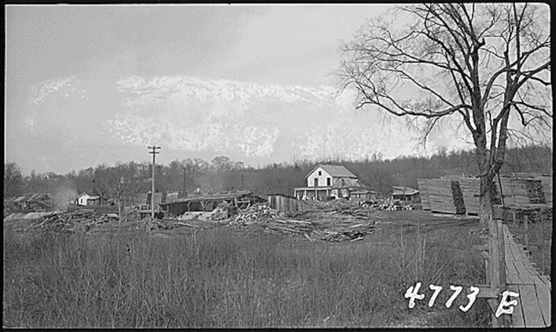 1940 Abandoned saw mill, Tennessee Valley
