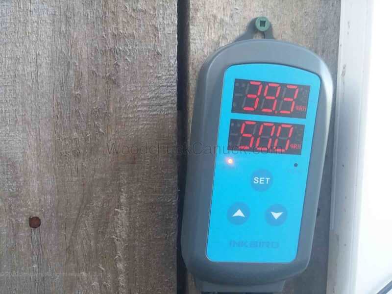 39.3 % relative humidity (RH%) end of kiln drying cycle.