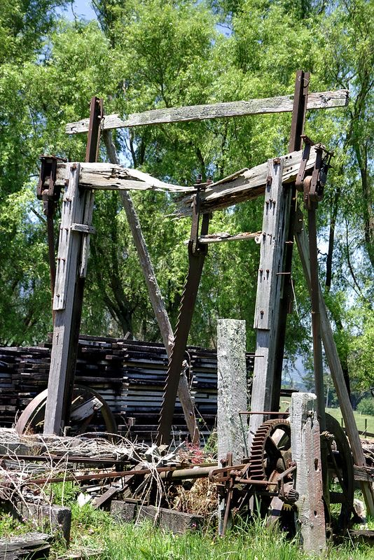 Abandoned vertical saw mill.