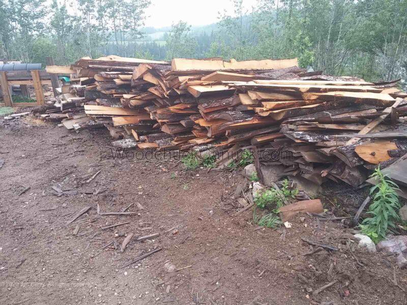 8ft and random length slab wood.,