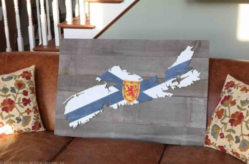 Finished map of Nova Scotia, custom sized.