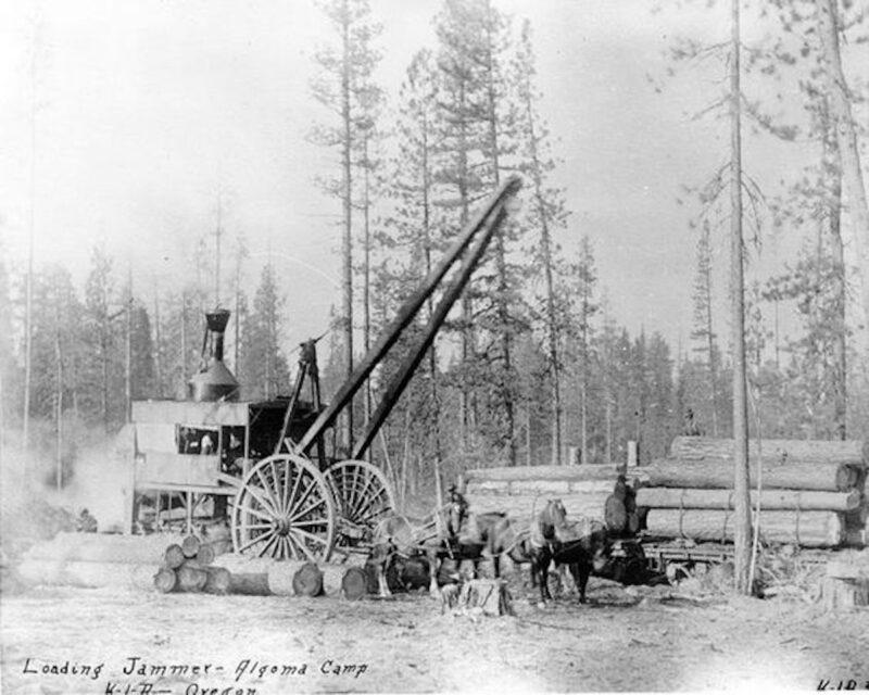 Loading Jammer, Algoma Camp, Oregon.