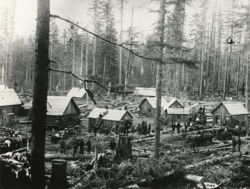 Logging camp, Bridal Veil, Oregon.