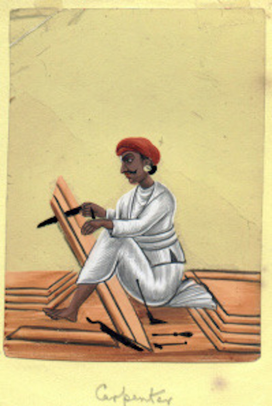 1813 Carpenter India.