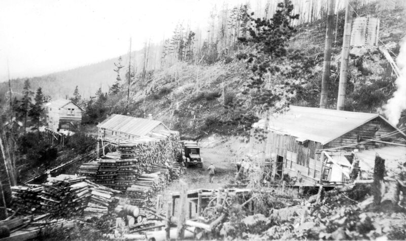 1925 Board of Trade trip, view of sawmill