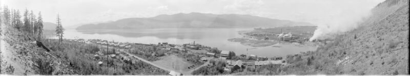 1935 A panoramic view of a sawmill in Youbou, BC