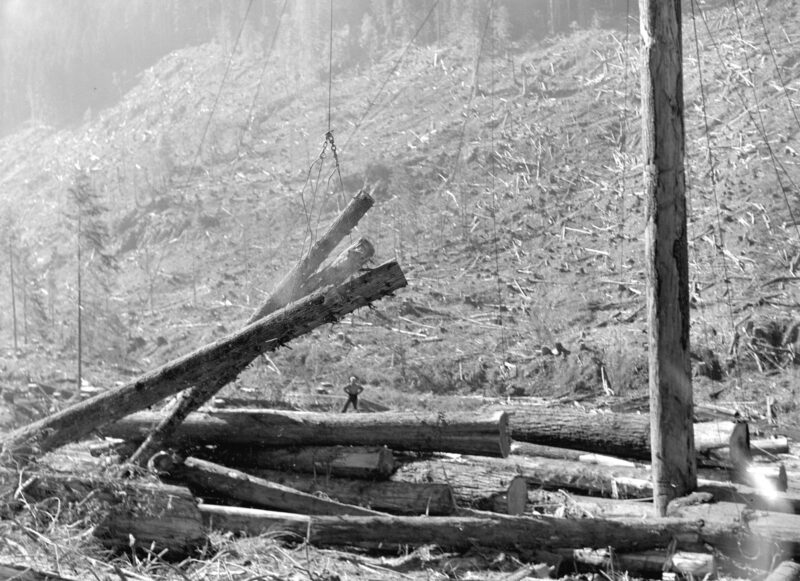 1940s Logging activities at Youbou, BC