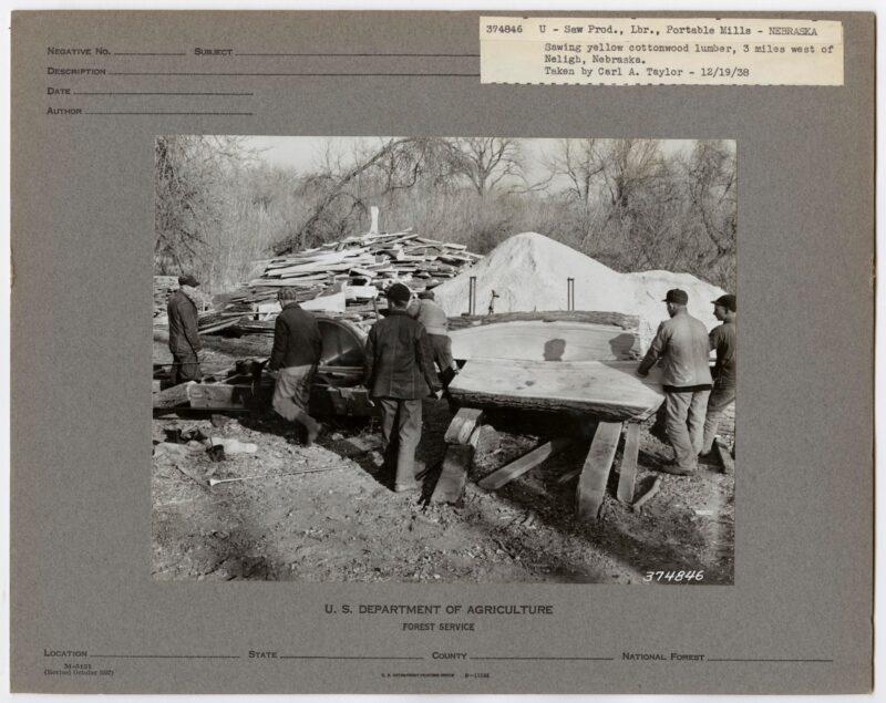 1938 U-Saw Prod Lumber near Norfolk, Nebraska
