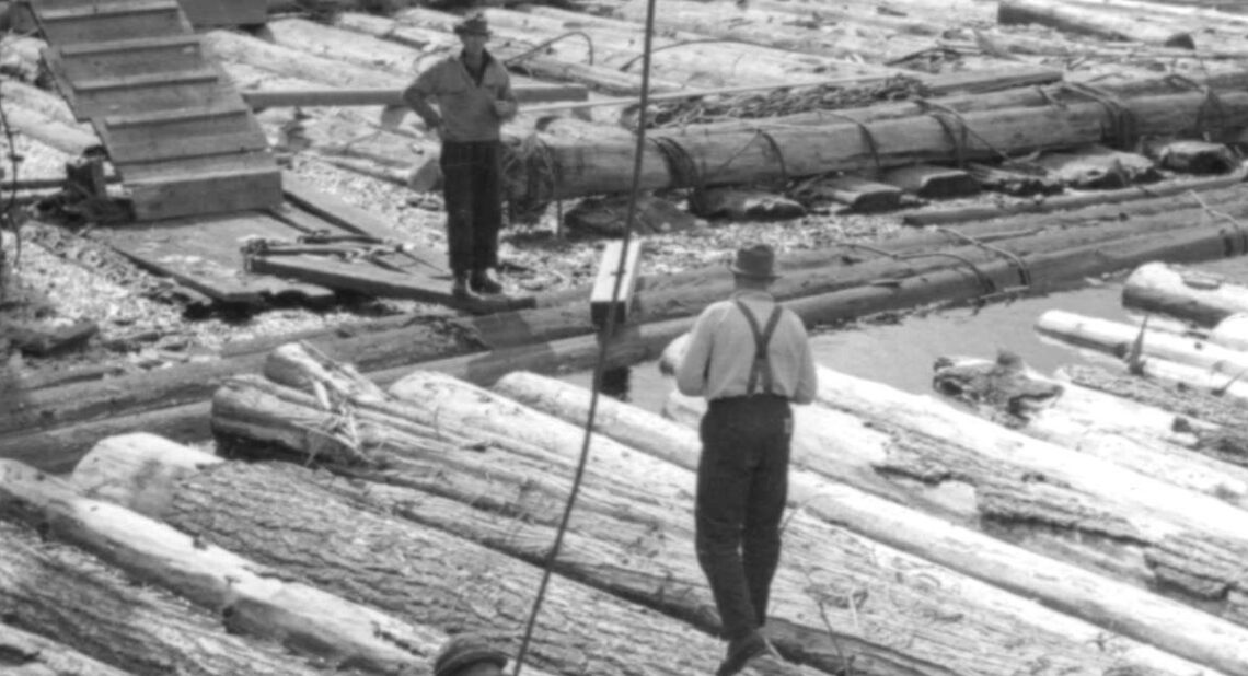 1940 View of a sawmill