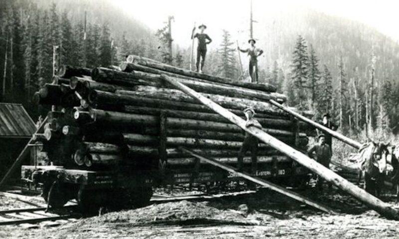 Corvallis And Eastern Railroad logging car.