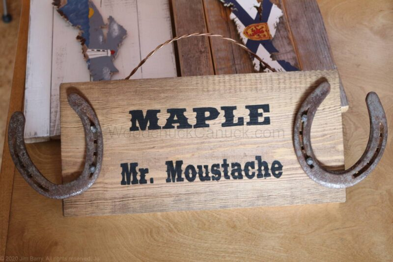 diy horse stall sign