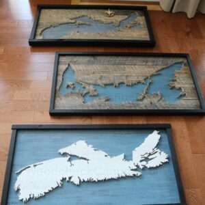 Wood Maps & Crafts