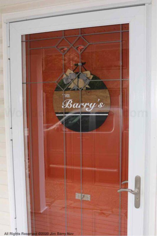 DIY door hanger.