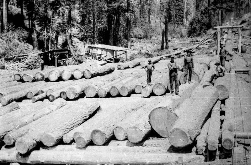 1900 End of log chute at Lyonsville.