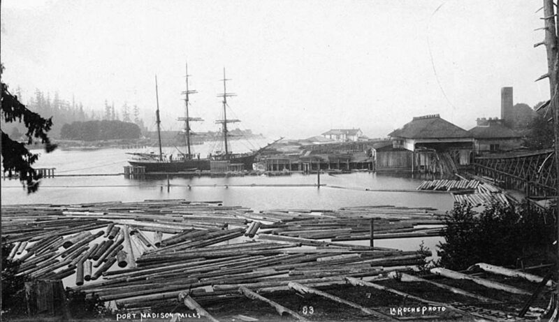 1892 Port Madison lumber mill