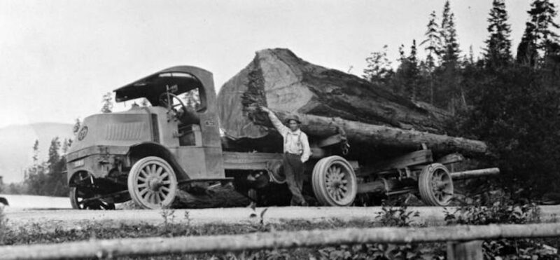 1921 Mack truck, 1917 AC Model.
