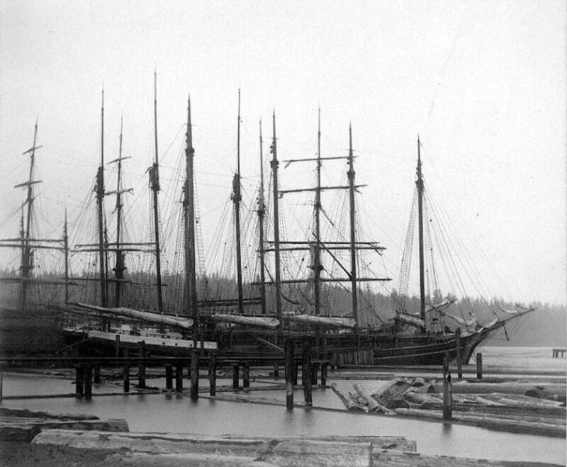 1895 Puget Mill Company docks.