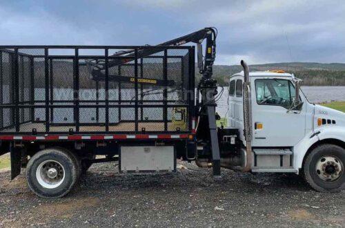 2008 Sterling single axle firewood truck.