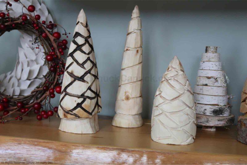 diy carved trees