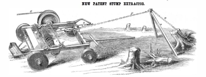 1859 A stump extractor