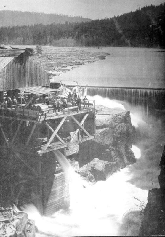 First lumber mill at Post Falls, Idaho.