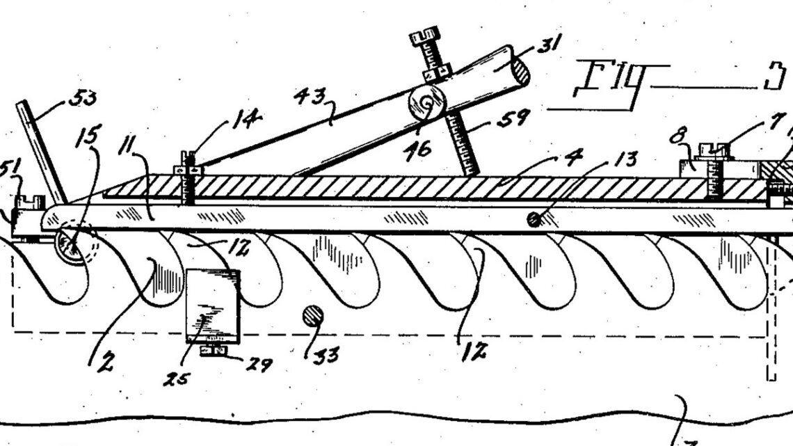 1936 Illustration of patent for a Shaping Tool for Saw Teeth