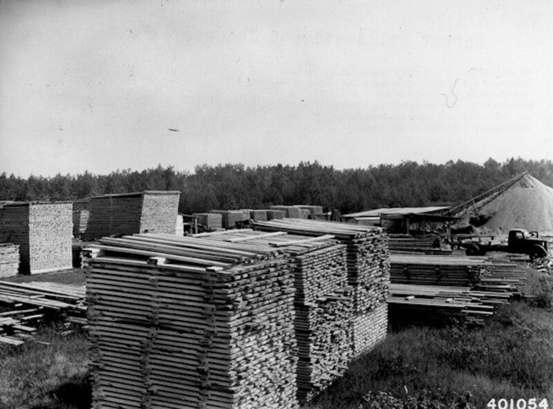 1940 Terreau's mill near Squaw Lake, Minnesota