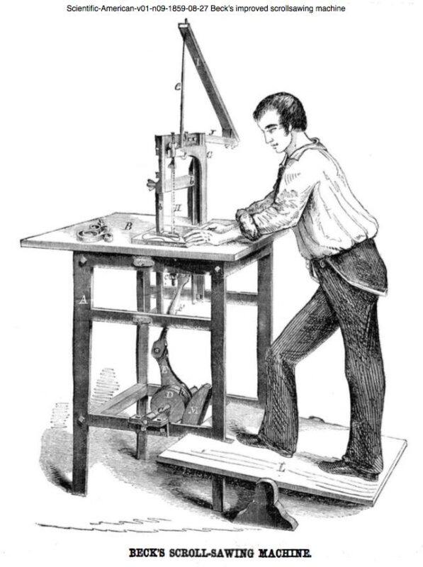 1859 Beck's improved scrollsawing machine