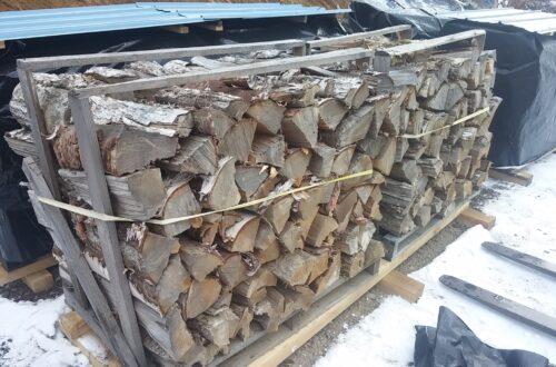 dry, split firewood