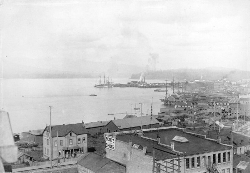 1892 View from Hastings Street looking east towards Hastings Sawmill