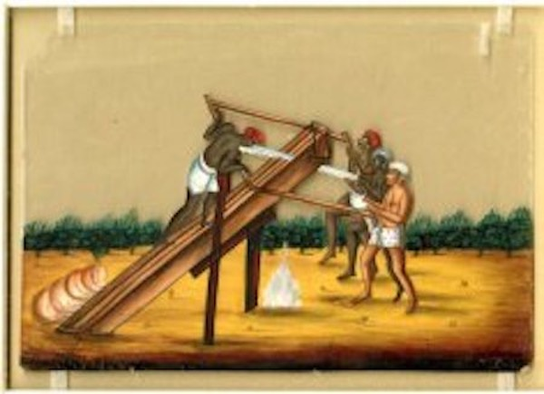 18th century Sawyer in India
