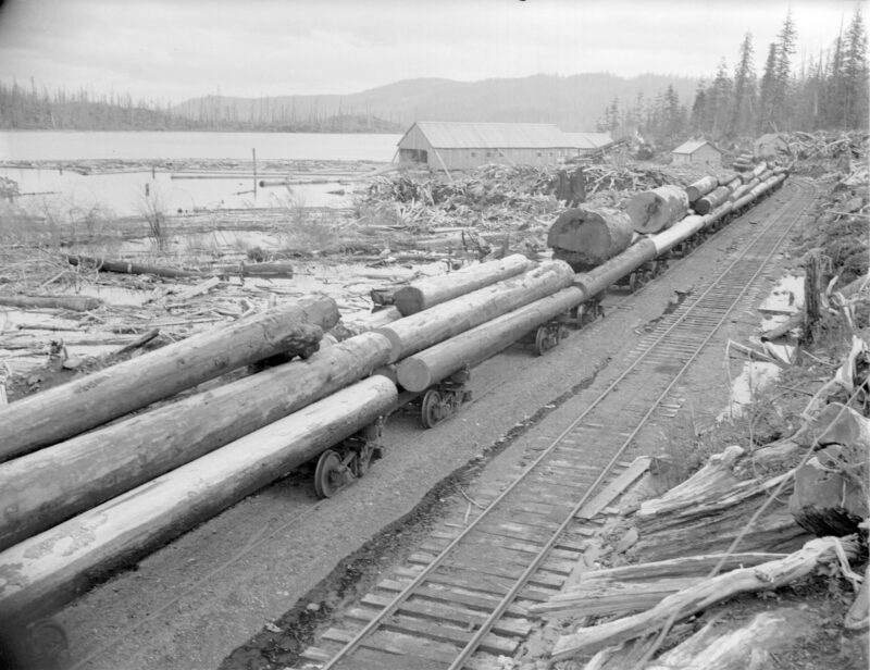 1940s Logs for Pacific Mills on the Queen Charlotte Islands.