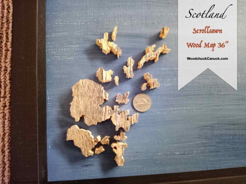 map of scotland,wood map,scroll saw,diy