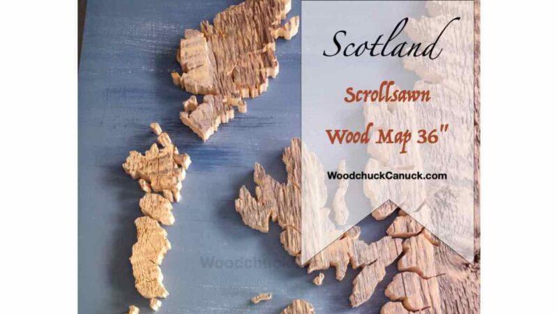 Wood map of Scotland