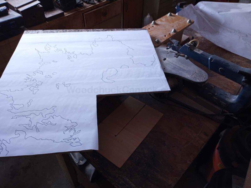 map of mahone bay,wood map,mahone bay map,scroll saw,diy,