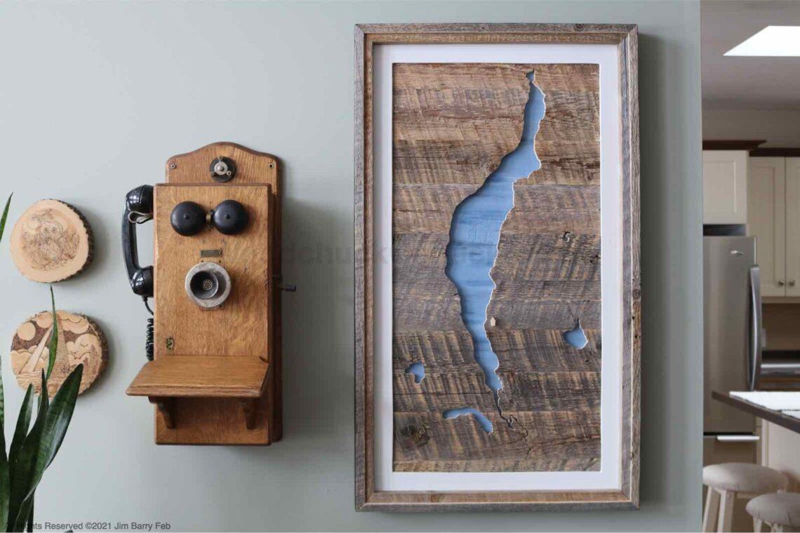 South River Lake, Nova Scotia wood map