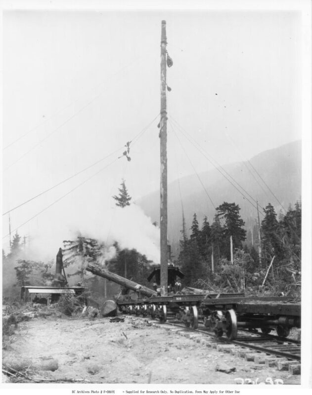 1933 Spar tree at Campbell River