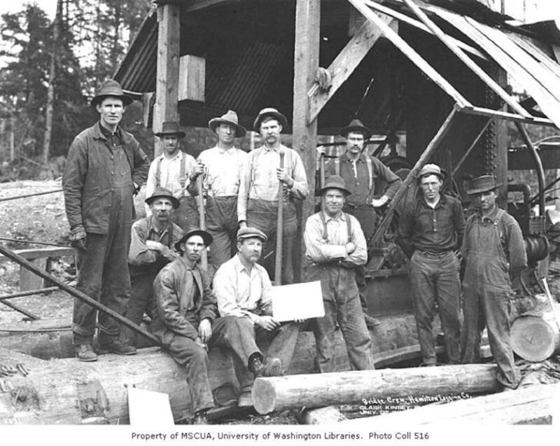 1916 Hamilton Logging Company.