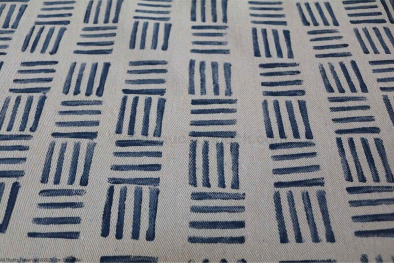 potato stamped fabric,drop cloths,pillow covers,sewing,diy