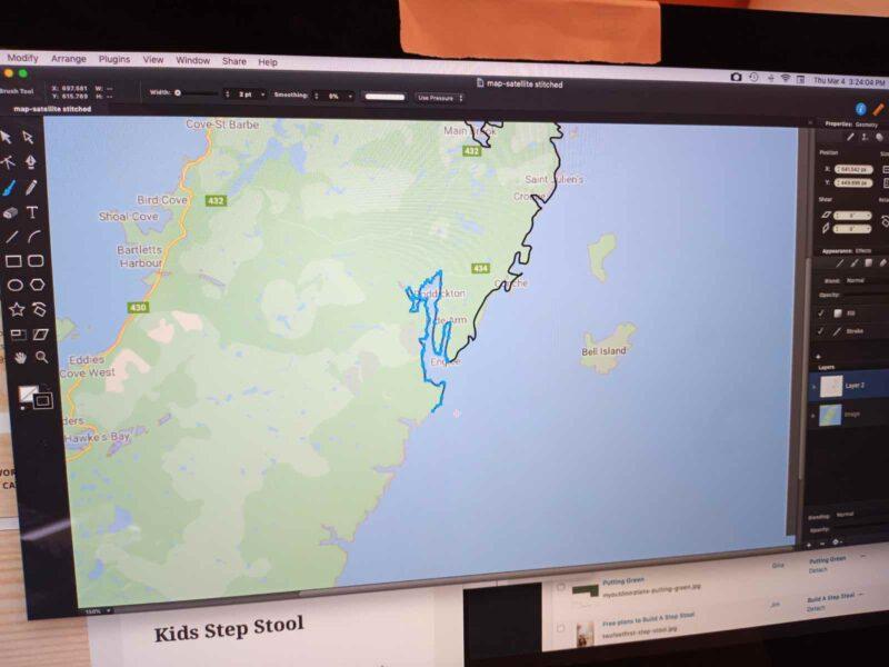 wood map of NL,newfoundland map,mewfoundland crib board,diy,scroll saw,map of newfoundland