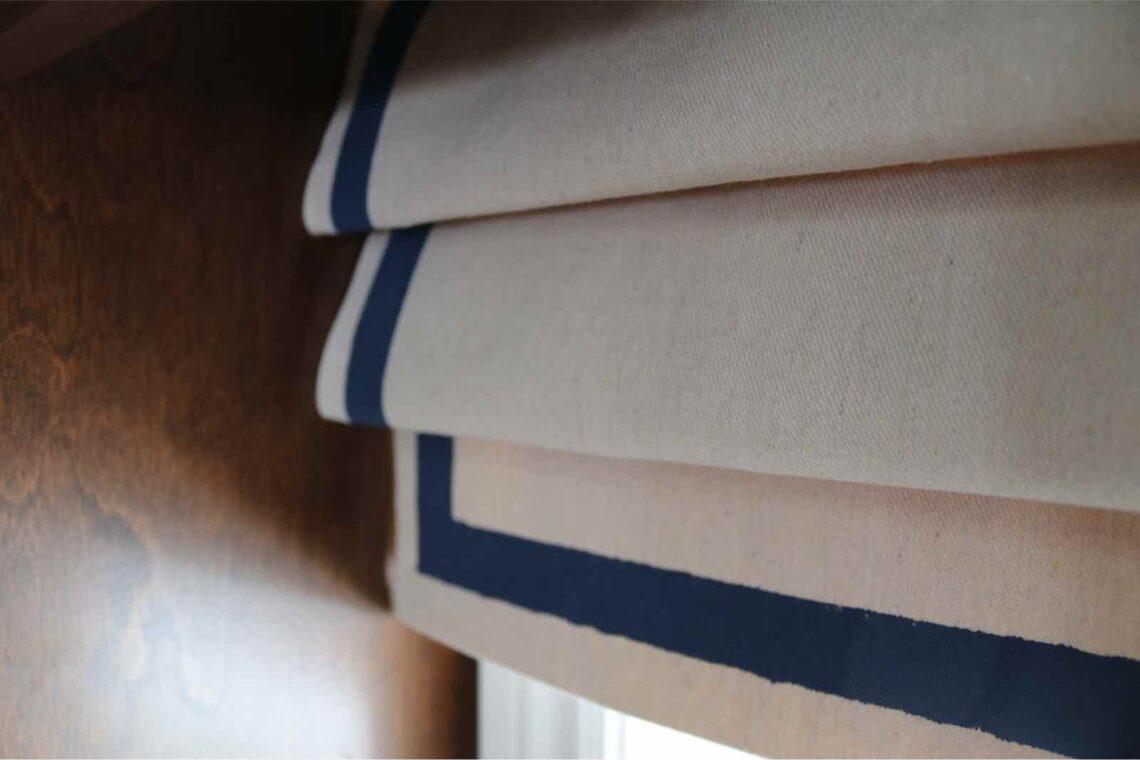 drop cloth roman shade,faux roman shade,no sew roman shade,