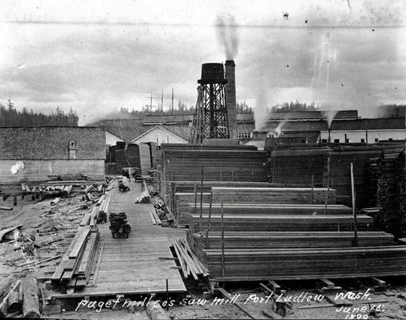 Puget Mill Co.'s saw mill. 1899 Port Ludlow, Wash. June 16
