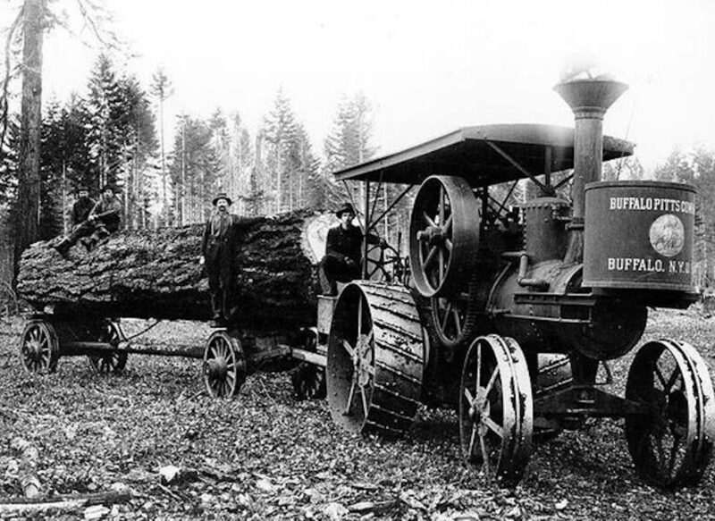 Buffalo Pitts Company log hauler