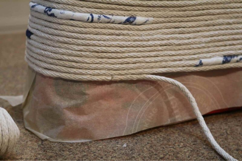 rope basket,oval basket,oblong basket,diy,crafts,hot glue,