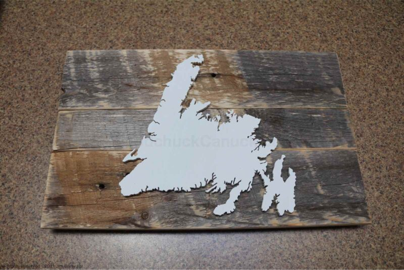 Wood map of Newfoundland #20210423 (SOLD)