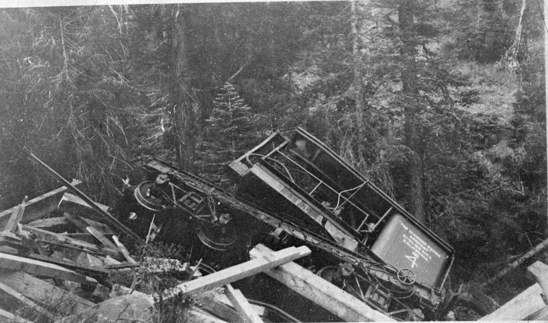 1909 The Diamond Match Company Logging Railroad Accident.