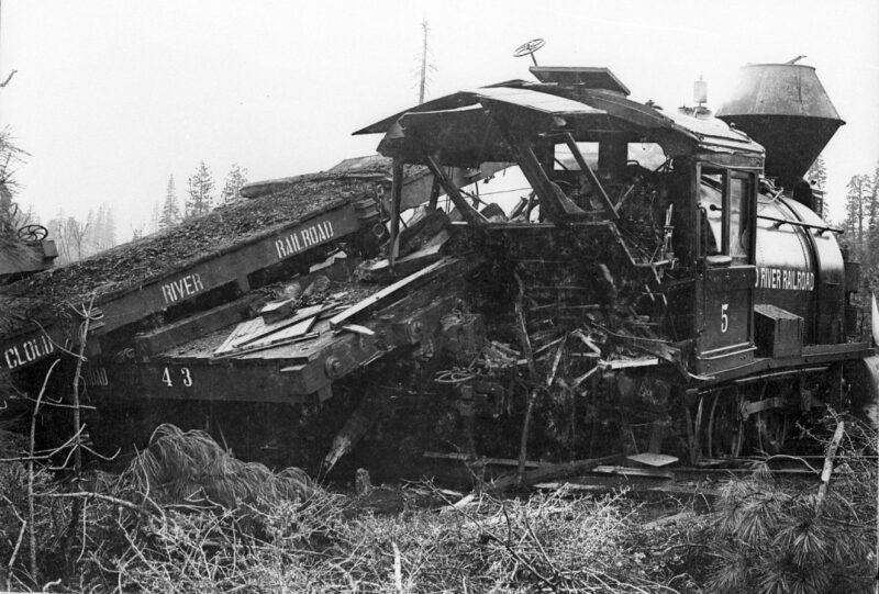 1910 Wreck on McCloud Logging Road