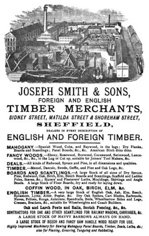 Joseph Smith & Sons, Foreign and English Timber Merchants.